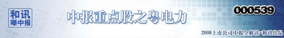 2008年和讯曝中报之重点股篇―-粤电力