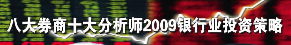 八大券商十大分析师2009银行业投资策略报告