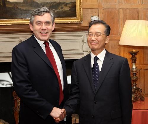 ...进行正式访问的中国国务院总理温家宝 新华社记者兰红光摄