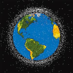 受污染的地球简笔画