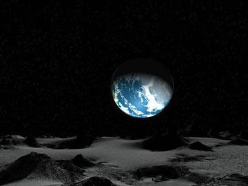 夜晚的月亮 平原