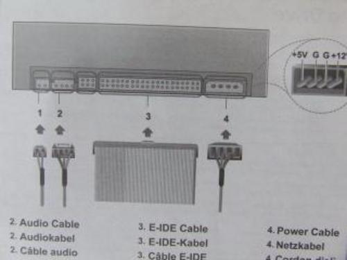 因为IDE数据线和电源插口有防误插保护功能,所以不会插反.-刻 不图片