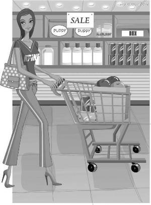 场景速写超市素材