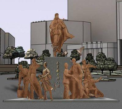 """18套""""好八连""""雕塑设计方案昨起评审(组图)"""