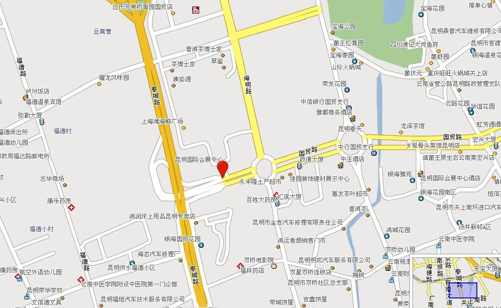 会展中心位于昆明市区东南部