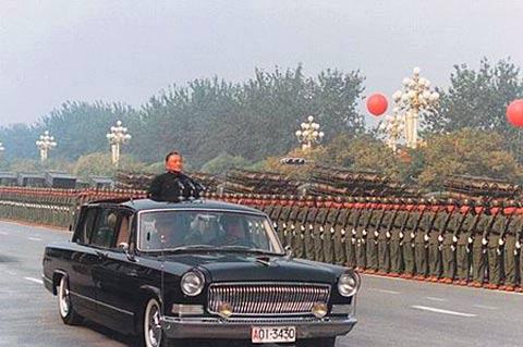 红旗轿车检阅部队