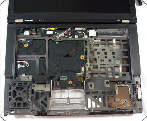 thinkpad t400s笔记本键盘部分取下后