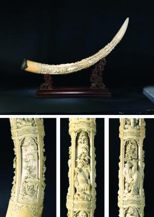 清 象牙雕八仙人物摆件-新海上雅集 古董拍卖热点频频