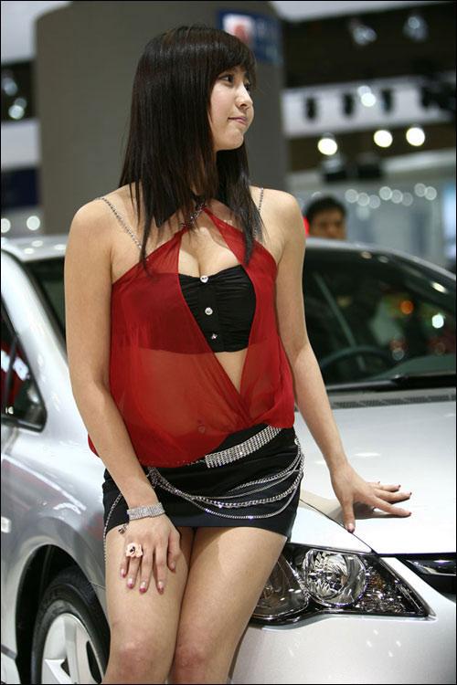 韩国新生代超性感可爱美女车模