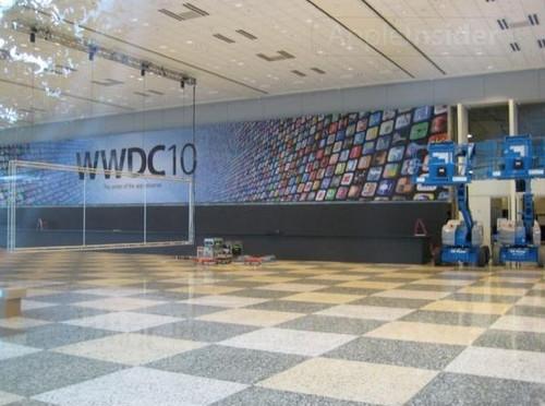 WWDC 10会场入口内景