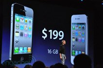 iPhone 4最低售价199美