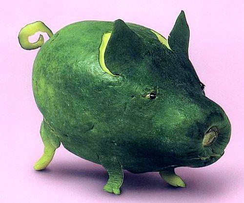 组图:油菜像鱼花菜像羊 蔬菜水果拼出动物形象