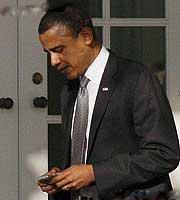 奥巴马与黑莓9000
