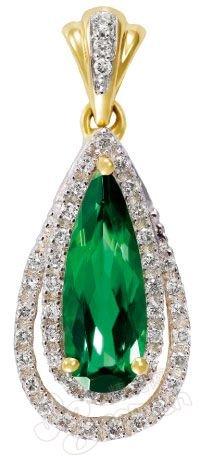 绿碧玺镶钻石吊坠/enzo高清图片