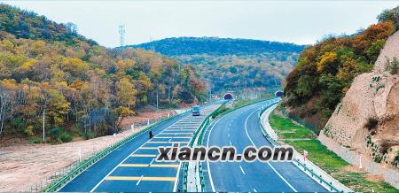 青兰高速陕西段沿线风景秀丽