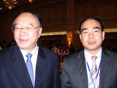 重庆市长黄奇帆与亚太总裁协会全球执行主席郑雄伟