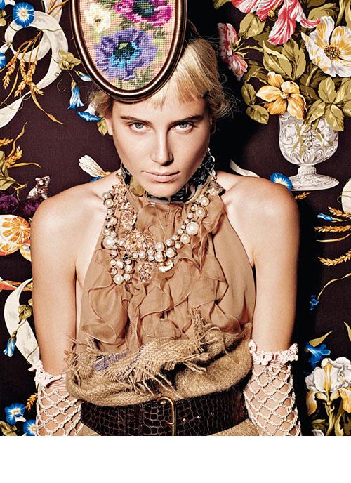 德莉 海明威Dree Hemingway拍摄 Vogue意大利版2010年...