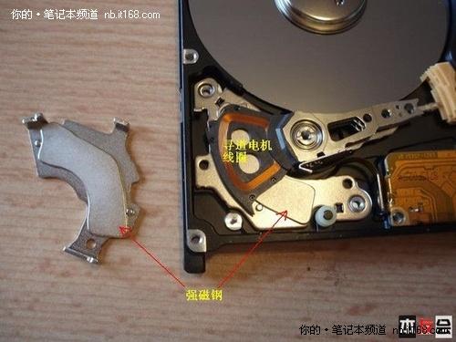 科技滚动 正文    当硬盘工作时,主轴电机带动盘片按黄色箭头方向以