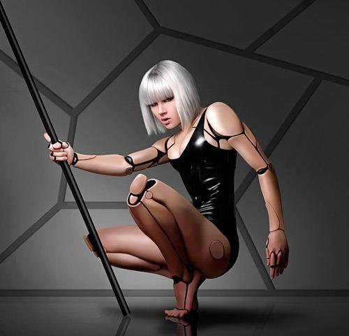 赤裸掰穴美女人体艺术_媒体新闻库 正文    有国外艺术家利用人体形体和神态与机器人模型相