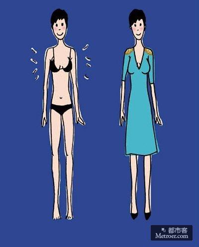 身材图片女 矢量图