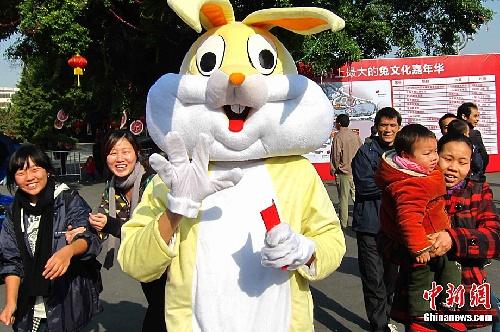 呆萌兔子图片大全可爱元旦快乐