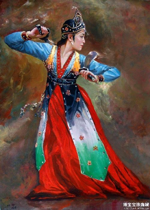 朝鲜风景油画