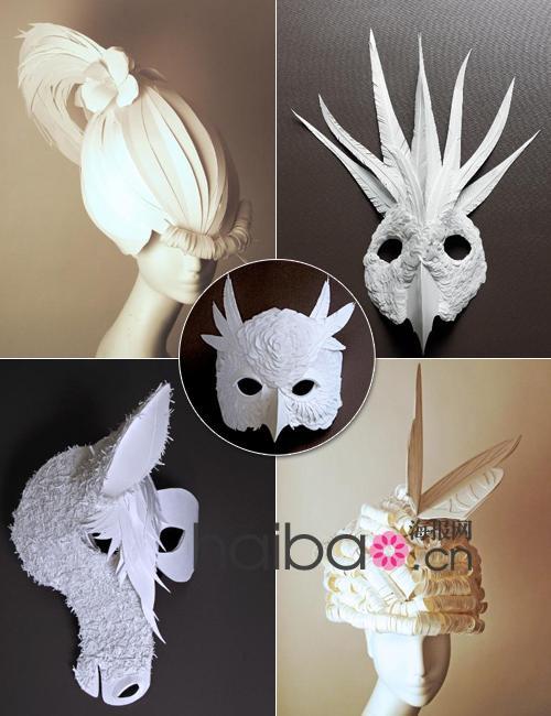 从发型到动物面具,paper cut project团队纸艺作品赏