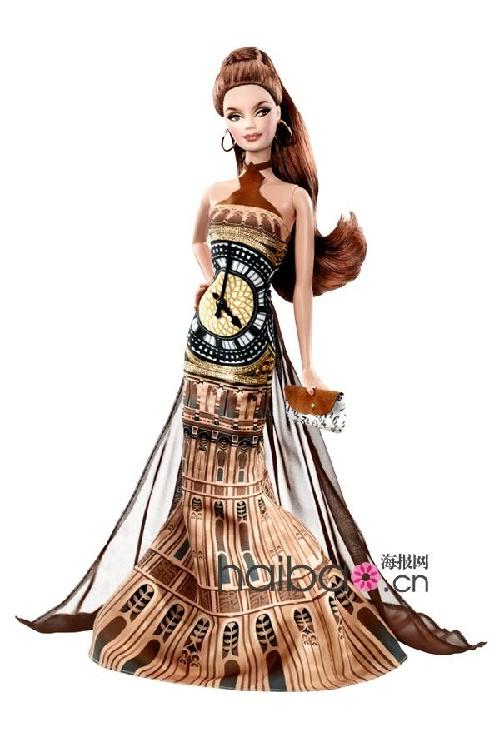 敦大本钟为灵感设计的芭比礼服以悉尼歌剧院为灵感设计的芭比礼服-