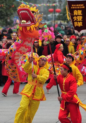 舞龙舞狮闹新春