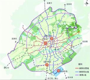 沈阳市轨道交通规划图.