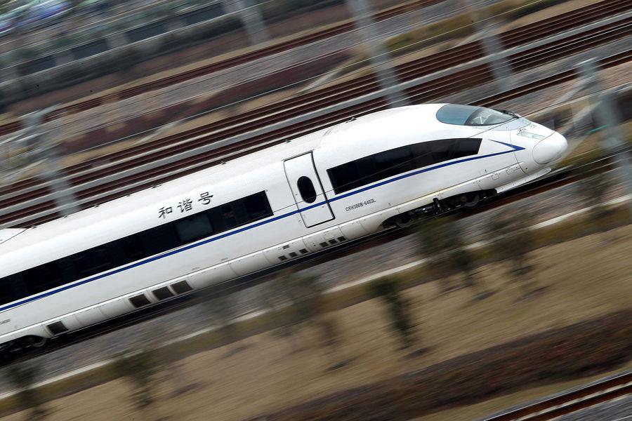 京沪高铁上海段试跑高速列车 今年6月通车