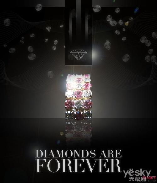photoshop设计实例:钻石主题时尚海报-科技频道-和讯网