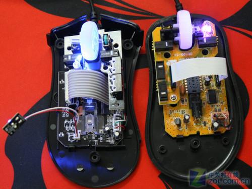 炼狱蝰蛇和ec1鼠标内部电路设计一览