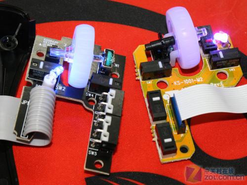 ec1鼠标上电路板对比