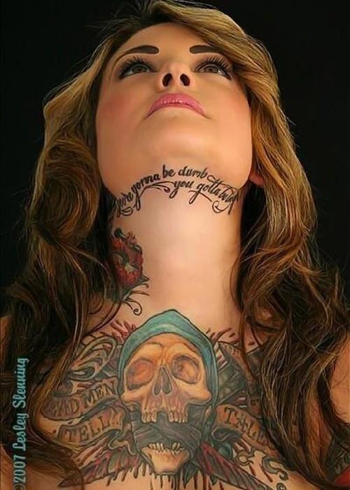 美女纹身的美丽诱惑 新闻频道