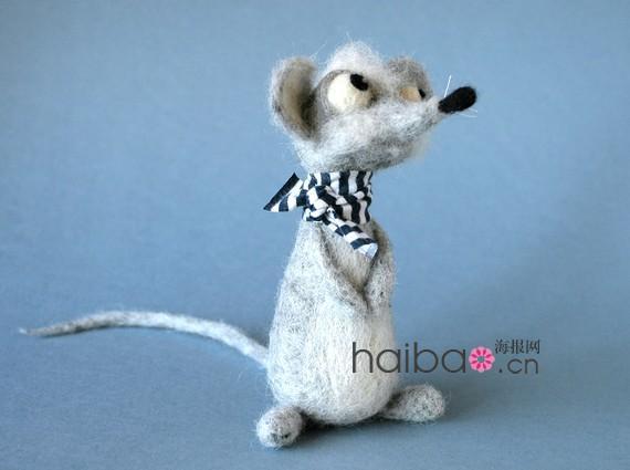 毛毡小动物身上,让这些可爱的娃娃也充满感情:犯傻的企鹅,生气的公鸡