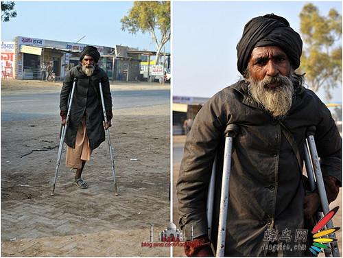 实拍:印度街头乞丐众生相