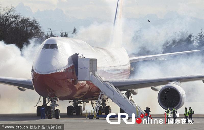 美国波音747-8洲际飞机首飞成功-新闻频道-和讯网