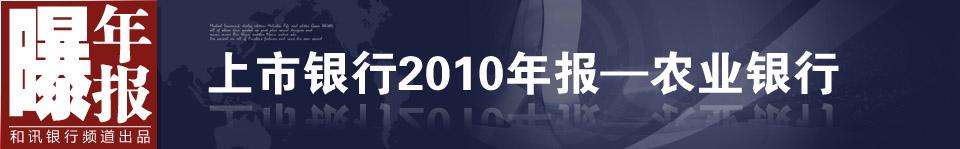 农业银行发布2010年度业绩报告