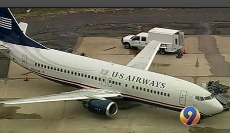 这架航班号为1161的波音737客机27日从费城起飞