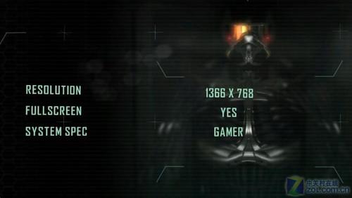 《孤岛危机2》的游戏画面设置选项非常少,除了分辨率和全屏功能