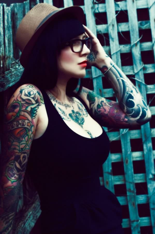 女生头像性感霸气纹身