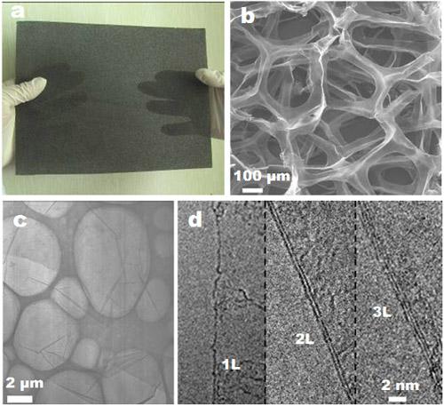 金属所石墨烯三维网络结构的制备及应用研究取得重要进展