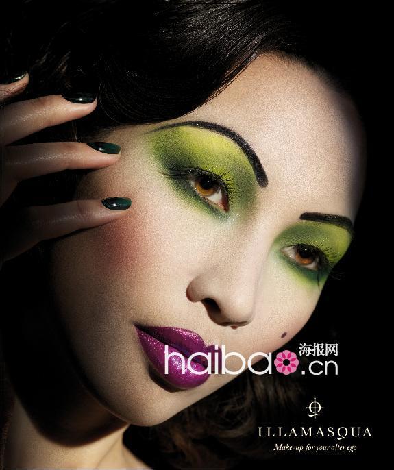 英伦彩妆品牌illamasqua另类海报秀,原来彩妆也可以这么玩!图片