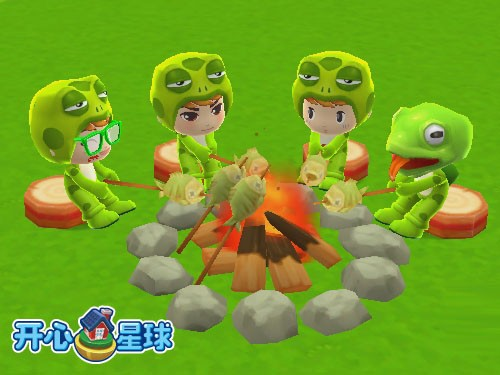 青蛙军曹烧烤会《开心星球》动物园