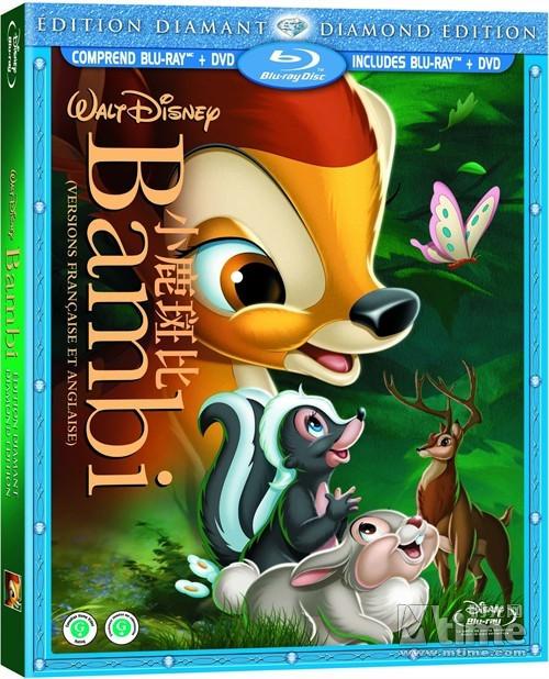 迪士尼经典动画 小鹿斑比 发行中文DVD