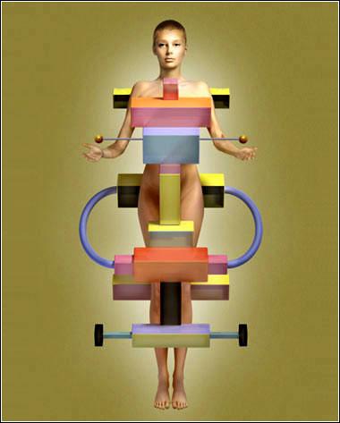 人体艺术欧美囹n�_奇妙的几何人体艺术[组图]