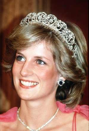 戴安娜王妃(资料图)-全球十大王室美女榜出炉