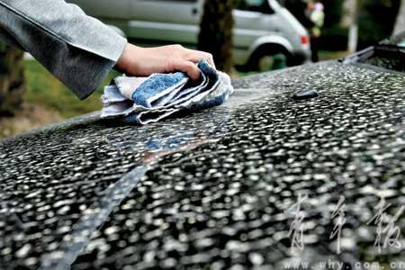 天降黄泥雨让洗车铺的生意突然好了起来。