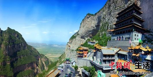 绵山风景区位于山西省介休市,是国家4a级旅游景区,历史文化名山